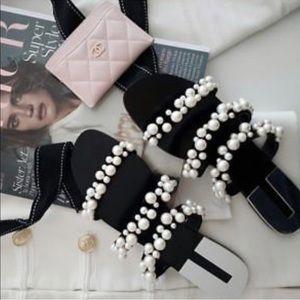 NWT Zara Pearly Strappy Sandals Sz 8